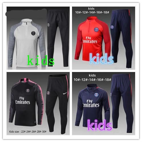 a38b10d2c 2018 Kids Kit 18 19 Psg Soccer Jersey Home Away 2018 2019 Mbappe DI MARIA T  SILVA CAVANI VERRATTI Football Shirts Paris Child Maillot …