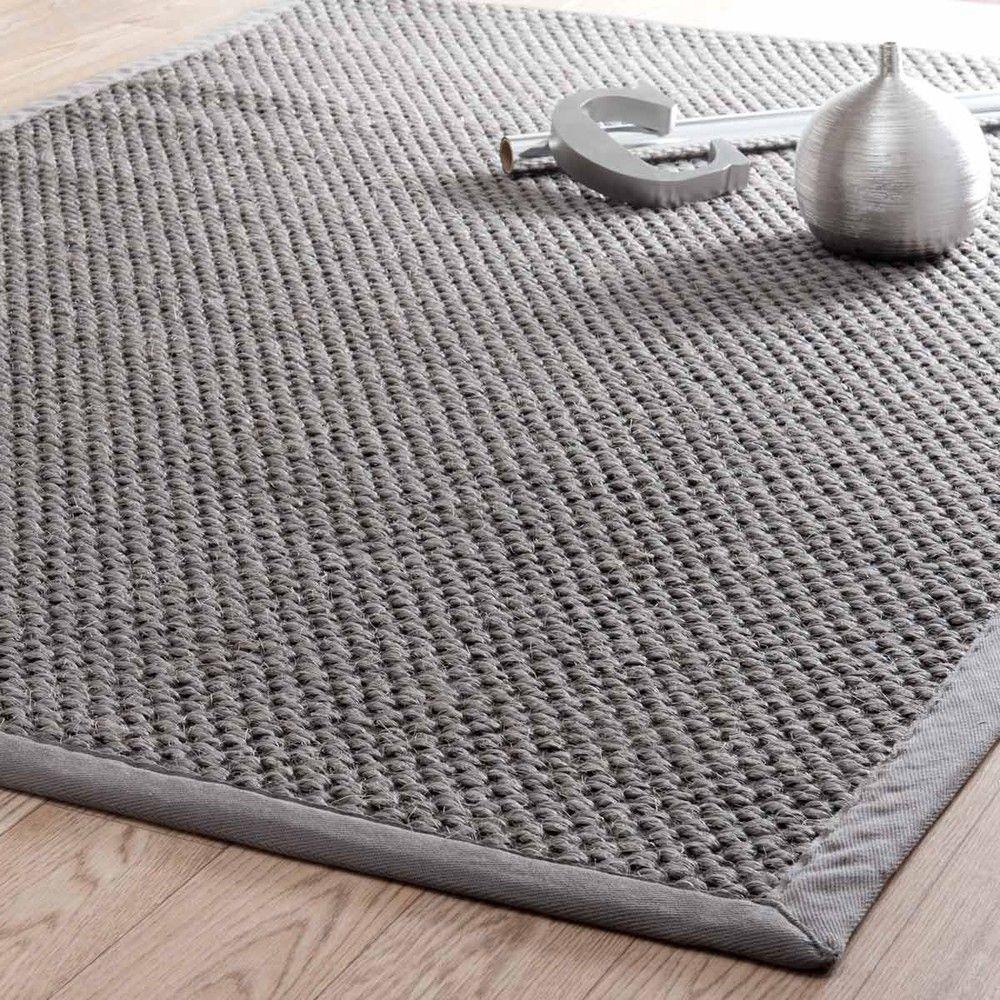 tapis tress en sisal gris 140 x 200 cm tapis tress. Black Bedroom Furniture Sets. Home Design Ideas