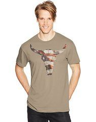 Hanes Men's WESTERN SKULL Graphic Tee (in Sizes Small - 3XL)