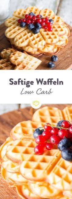 Photo of Low-carb waffles – crispy on the outside and wonderfully juicy on the inside