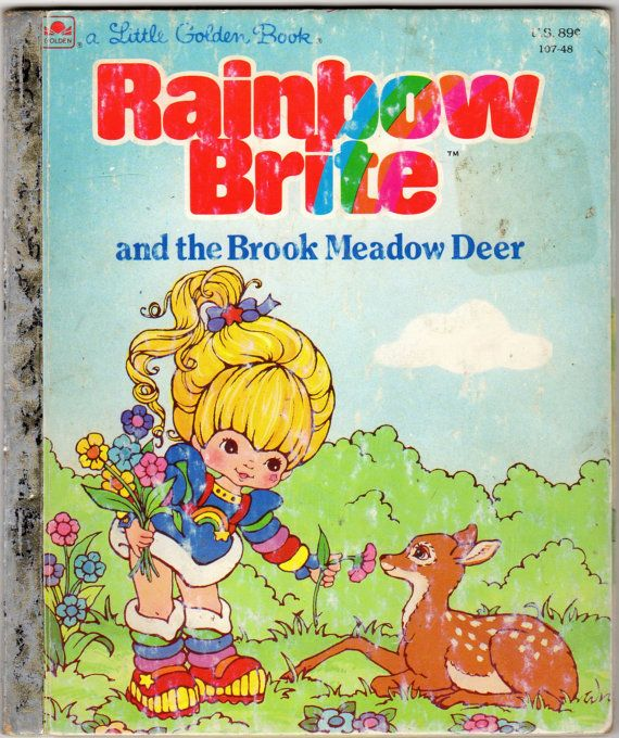 Vintage 80s Childrens Rainbow Brite Golden Book My Wayback Machine