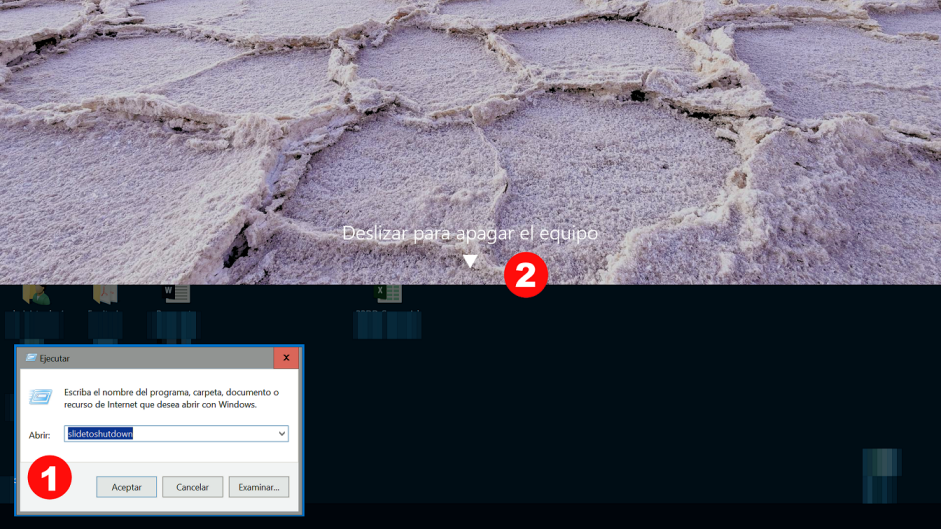 Apagar Windows 10 deslizando
