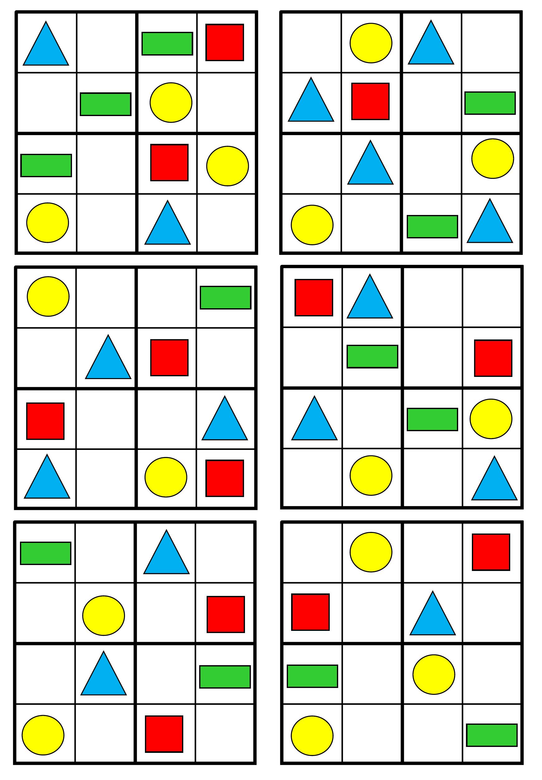 Pracovni Listy Matematicke Predstavy 5 7 Let Kids Math Worksheets Shapes For Kids Sudoku [ 2500 x 1739 Pixel ]