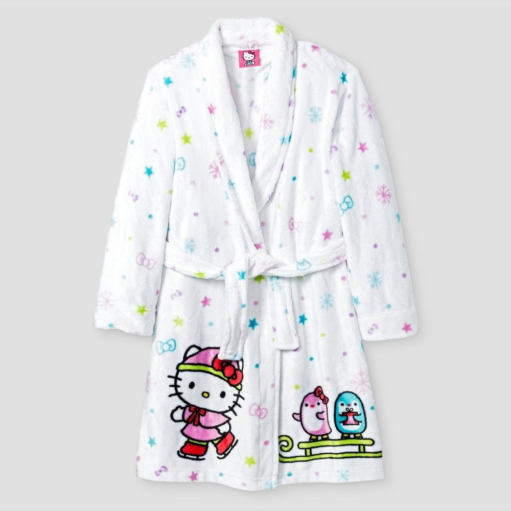 Girls  Hello Kitty Robes - White L 708ec80c6