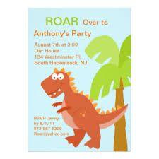 Resultado de imagen para te invito a mi  cumpleaños de t rex