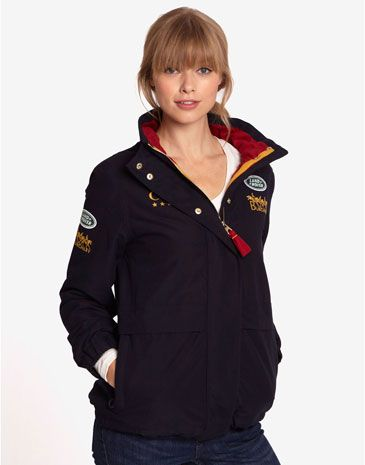 Joules BURGHLEY BLOUSON Womens Burghley Waterproof Jacket, Navy. No matter whether you're mucking out or mucking about, pull on this jacket and head outside come rain or shine.