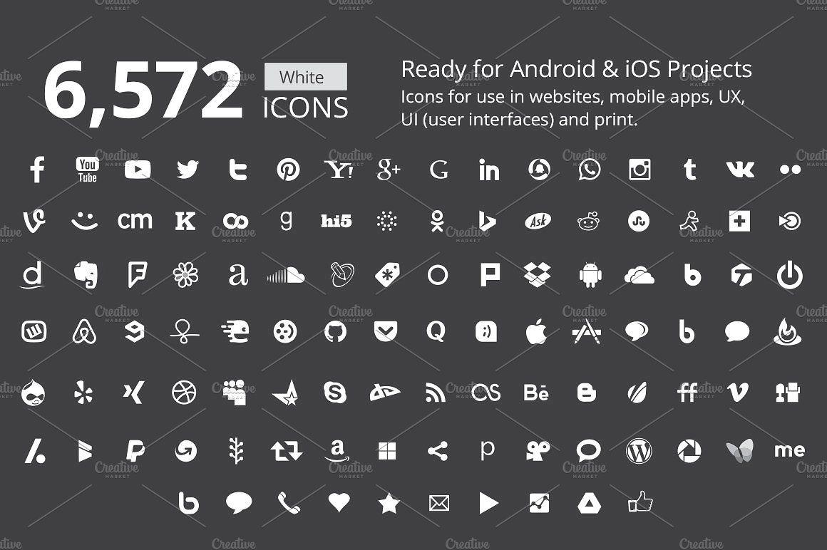 212 B/W Social Media Icons Social media icons, Social