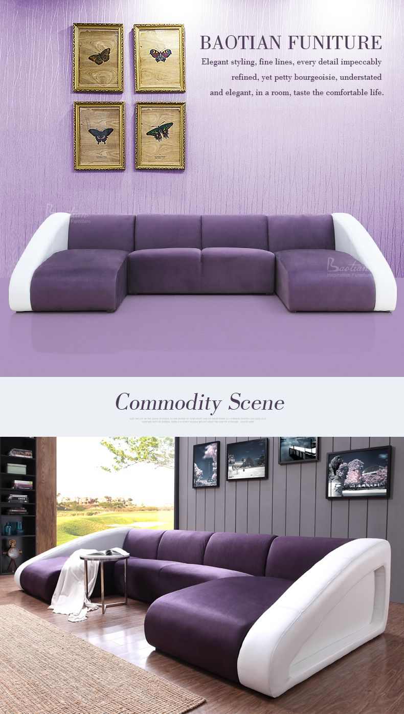Modern Living Room New Model U Shape Sofa Style