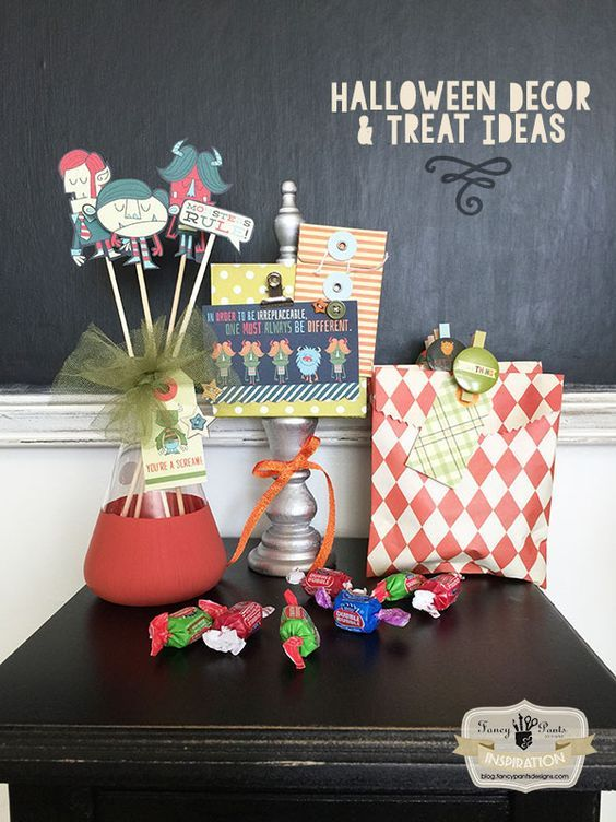 Halloween Decor and Treat Ideas Halloween ideas, Scrapbook paper - create halloween decorations