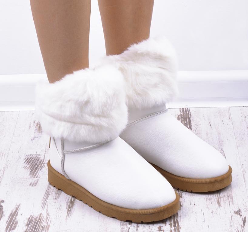 Biale Botki Emu Sniegowce Futerko Cieple Buty Shoes Slippers Fashion