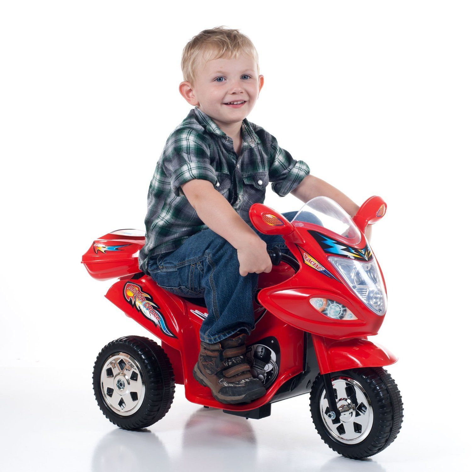 Lil Rider Red Baron Motorized Ride on Three Wheel Motorcycle