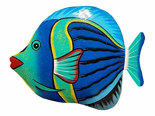 Hand Chiseled And Painted Tropical Metal Art Wall Decor F Https Www Amazon Com Dp B071ctxshr Ref Cm Sw R P Metal Fish Wall Art Fish Wall Art Fish Painting