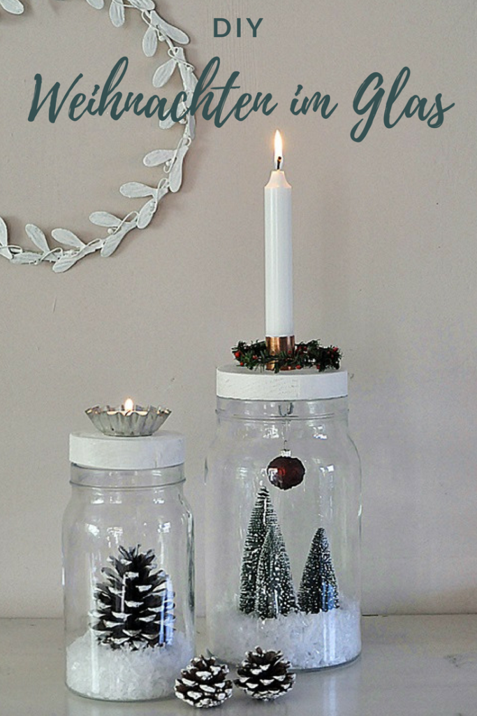 diy weihnachten im glas basteln. Black Bedroom Furniture Sets. Home Design Ideas