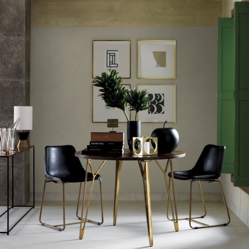 Dial Dining Table Home Modern Black
