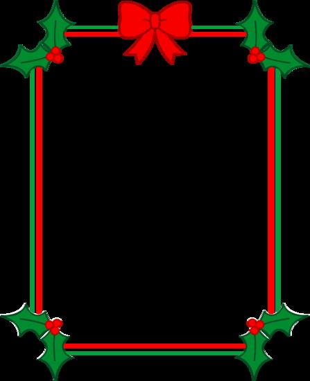 Christmas Border With Holly And Ribbon Free Clip Art Free Christmas Borders Christmas Graphics Free Christmas Border