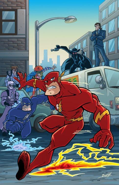 Metro Flash Cartoon Artwork Cartoon The Flash