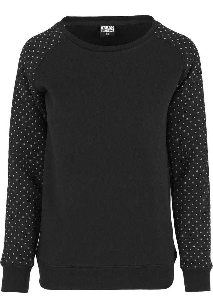 The Cross Quilt Raglan Crew scores highly with its quilted material and print on the sleeves. Composition: 63% Cotton, 37% Polyester