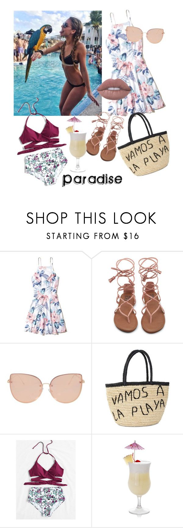 """""""Paradise Awaits- With Piña Coladas"""" by merylrs ❤ liked on Polyvore featuring Hollister Co., Topshop and Sensi Studio"""