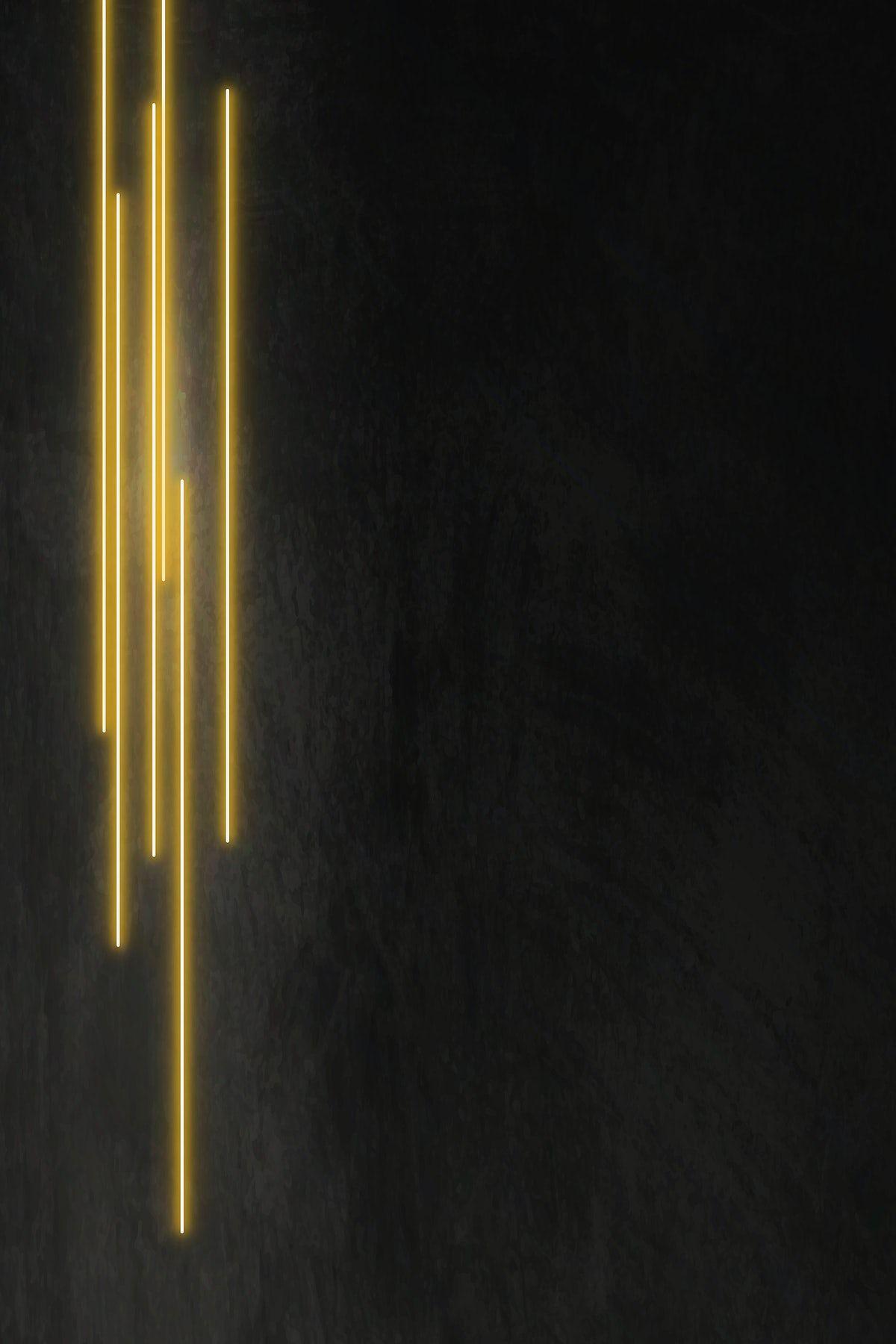 Download Premium Vector Of Yellow Glowing Lines On Black Background Vector In 2020 Black Background Wallpaper Black Background Images Gold Wallpaper Hd