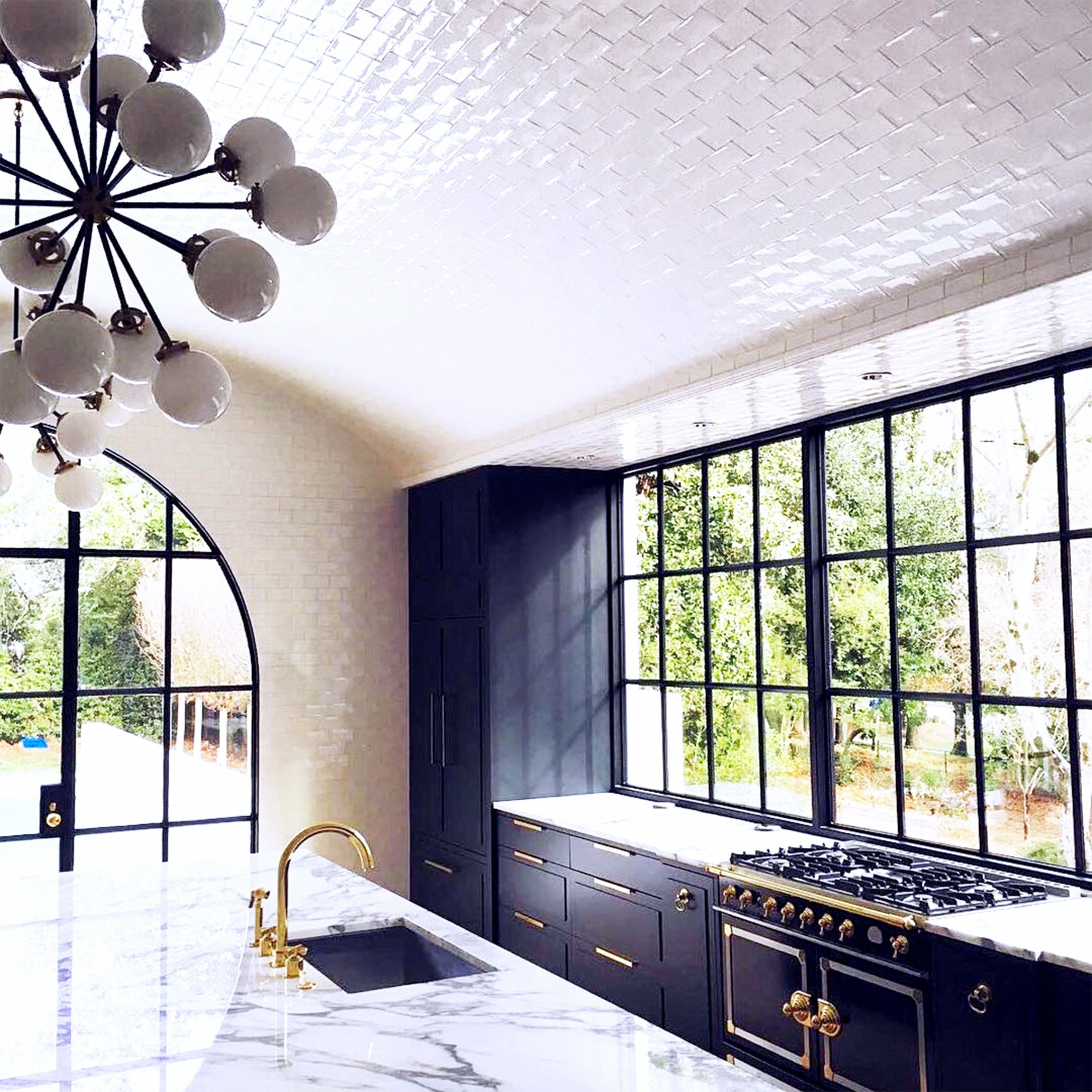 Magnificent white arched tile ceiling kitchen remodel from benecki