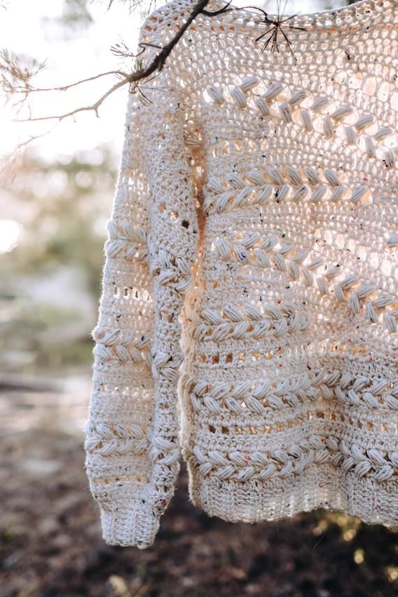 Crochet Sweater Pattern PDF - Sensum Sweater - cabled sweater pattern in English