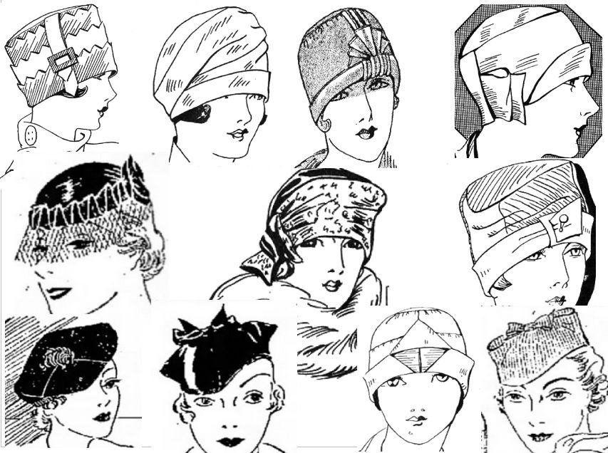 Ruth Wyeth Spears Hat Collection Flapper Style Sewing