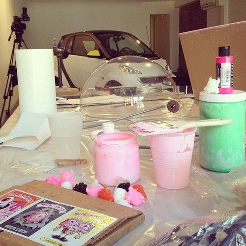 Getting started on this #collabfortwo project for @smartcarusa with @adam_wallacavage