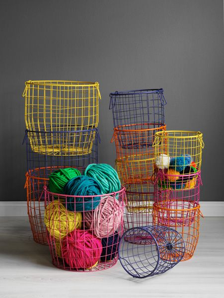 Wire Baskets from Hello Polly. #coloreveryday