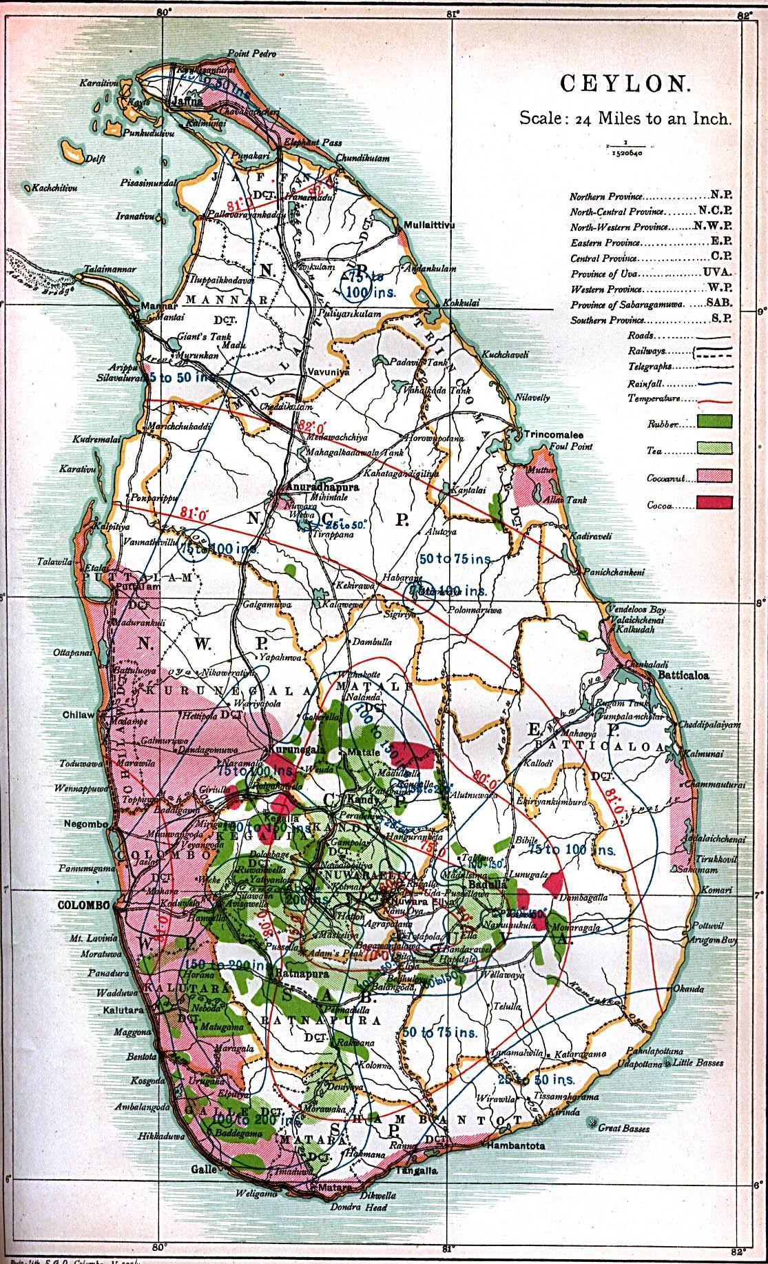 Map of Ceylon