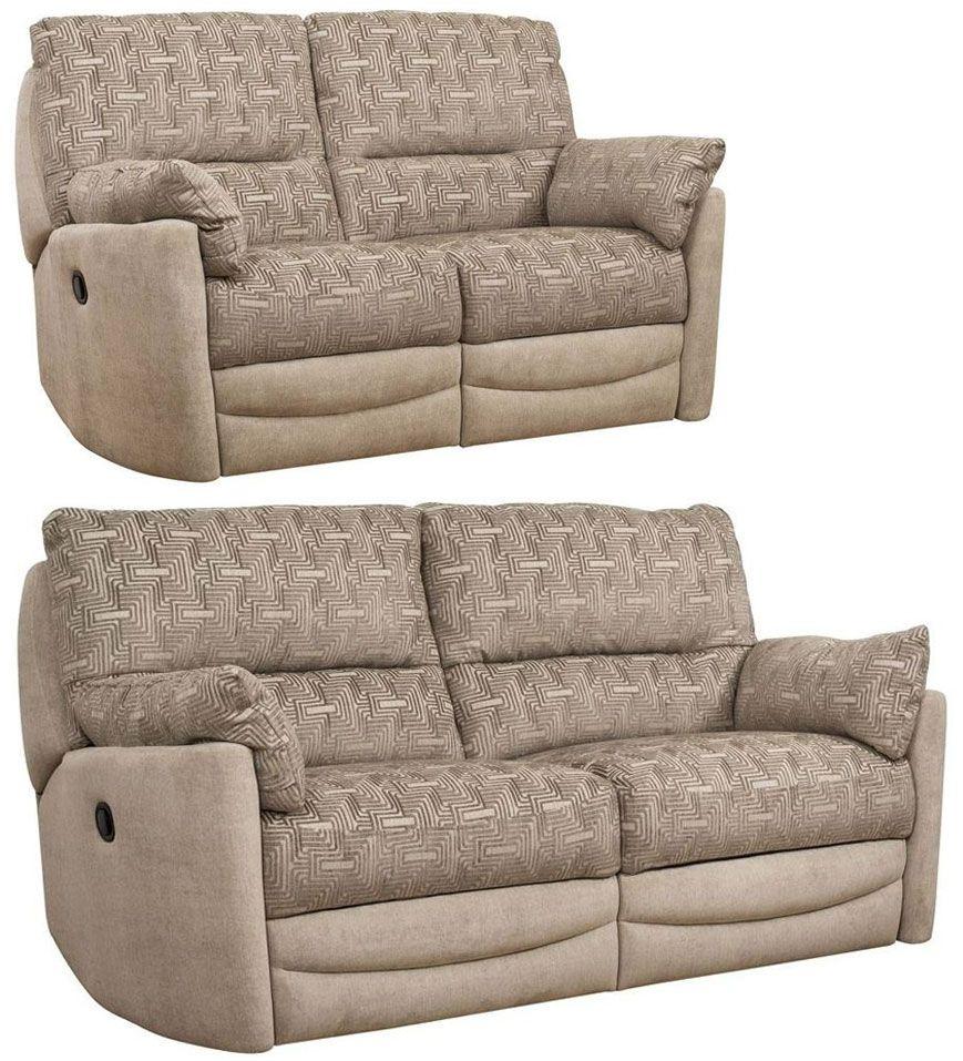 Buoyant Metro 3 2 Seater Fabric Recliner Sofa Suite Retro Sofa Reclining Sofa Classic Sofa