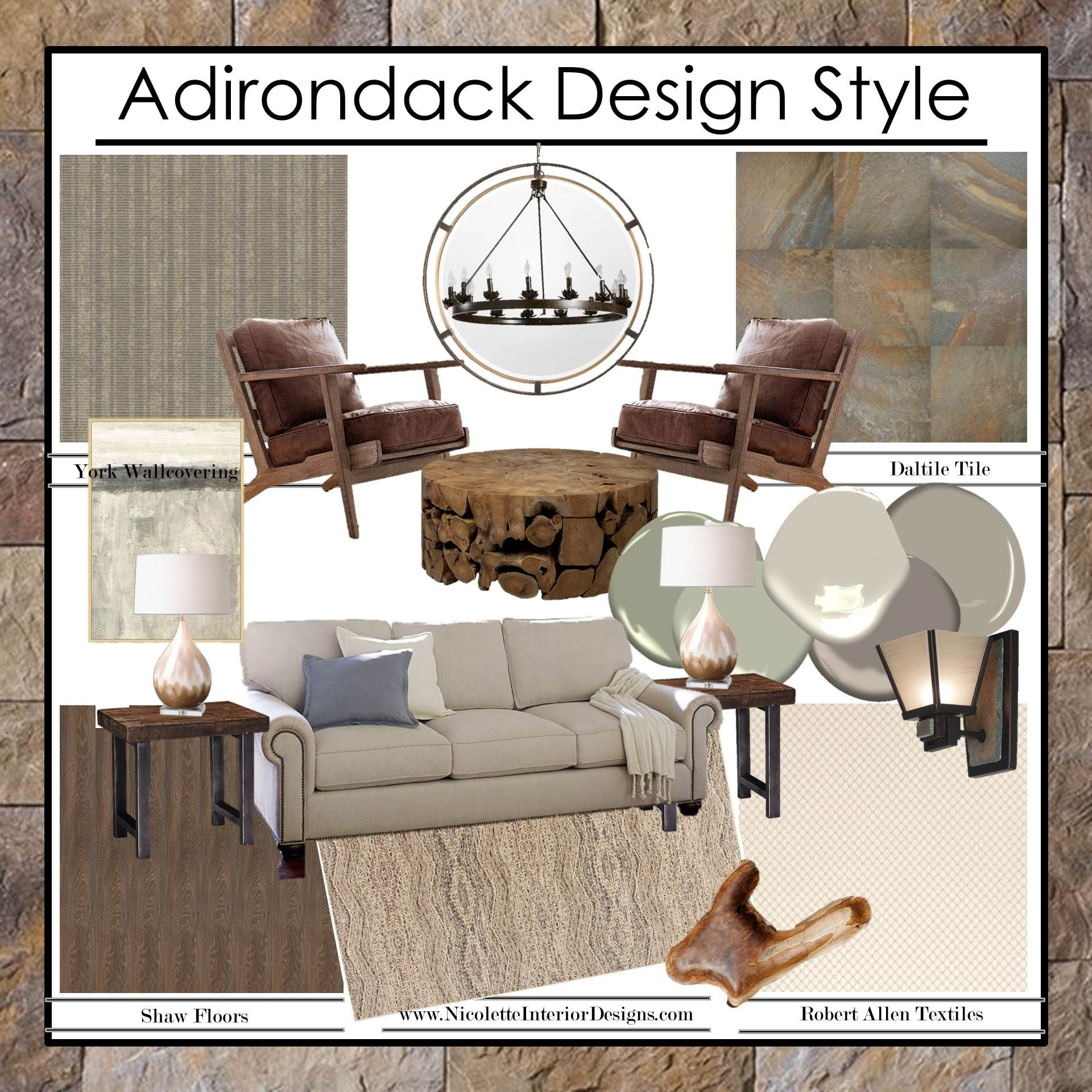 Mimicking the location it's named for, Adirondack design
