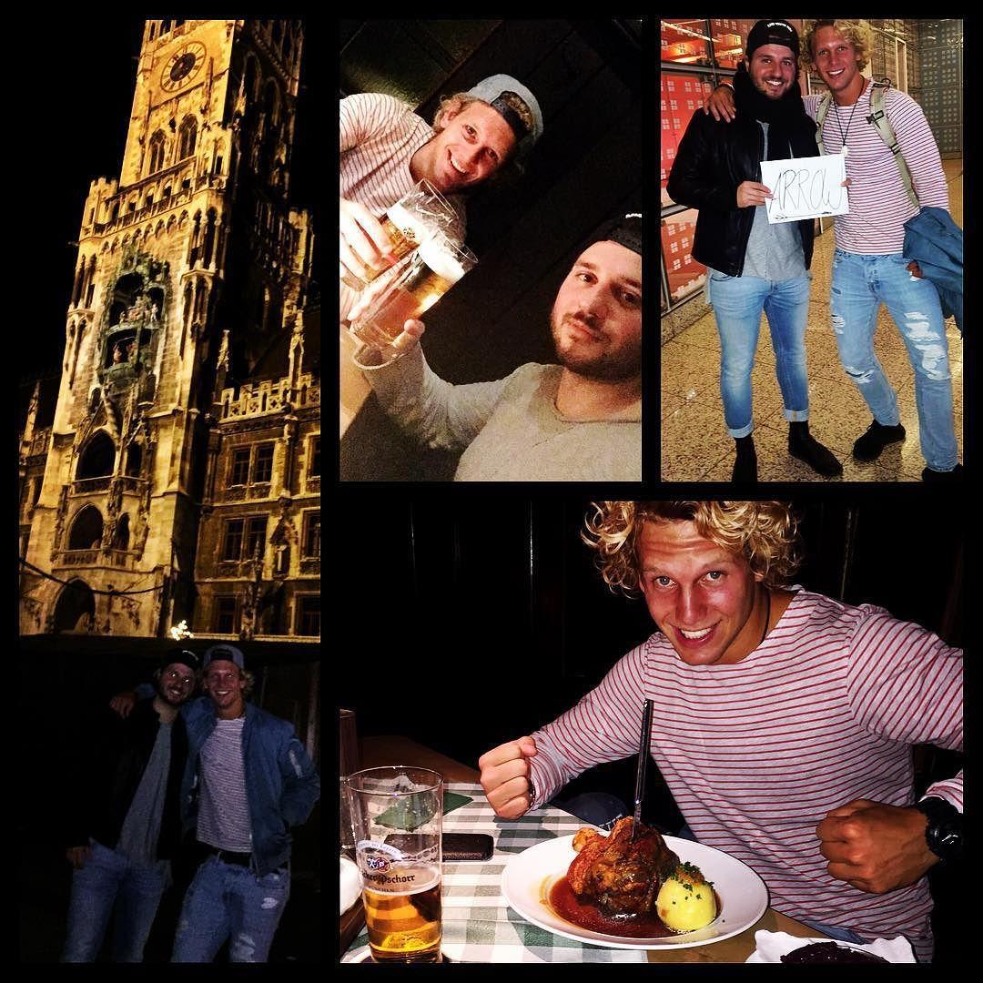 Look who was here! #mymrdiggle #arrow #willi #joke #supercool #blondieandbrownie #southamerica #chile #santiago #munich #münchen #beer #bier #haxe #knödel #netherlands #ohnehollandfahrnwirzurem by denis_recai #haxenhaus #people #food