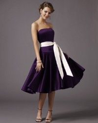 Deep Purple Bridesmaid Dresses