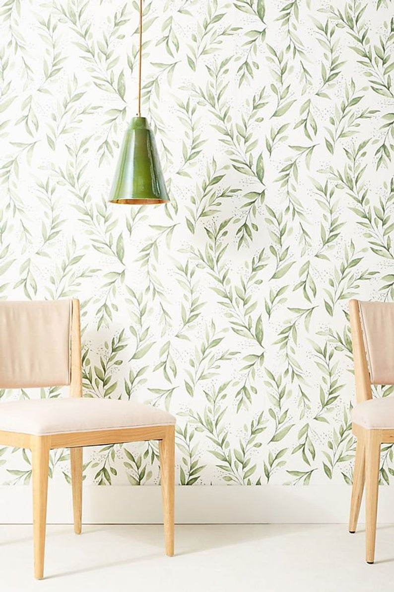 York Wallcovering Magnolia Home Green Olive Branch