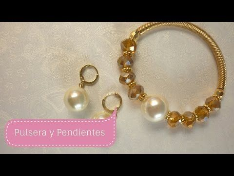 5dab149de29e Manualidades  PULSERA con perlas fácil Bisutería DIY ♥ Sor Amparo Arredondo  R. - YouTube