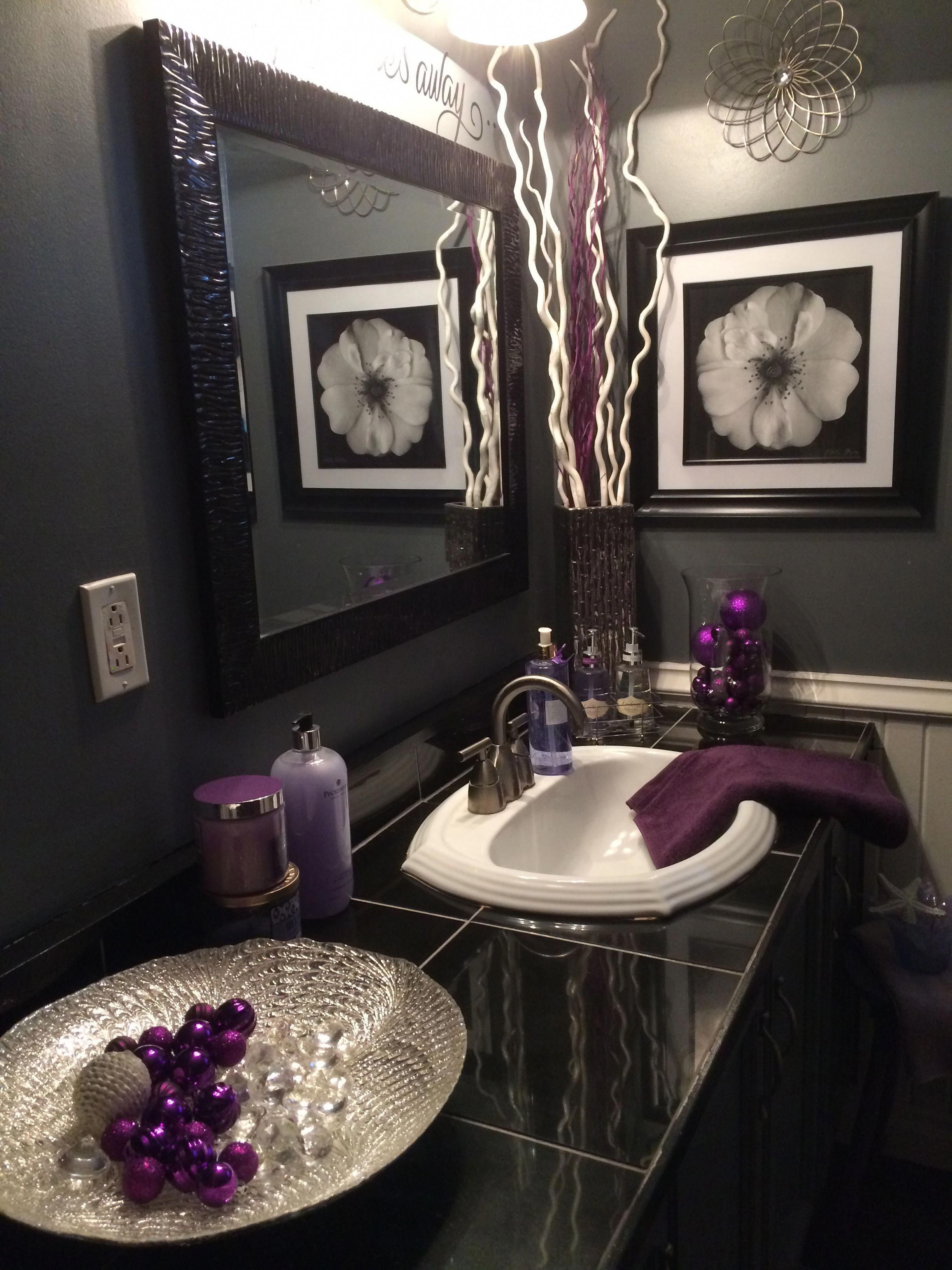 Life Storage Blog Purple Bathroom Decor Gray Bathroom Decor Purple Bathrooms