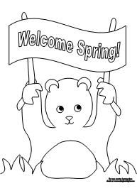Printable Coloring Page For Groundhog Day From Making Learning Fun