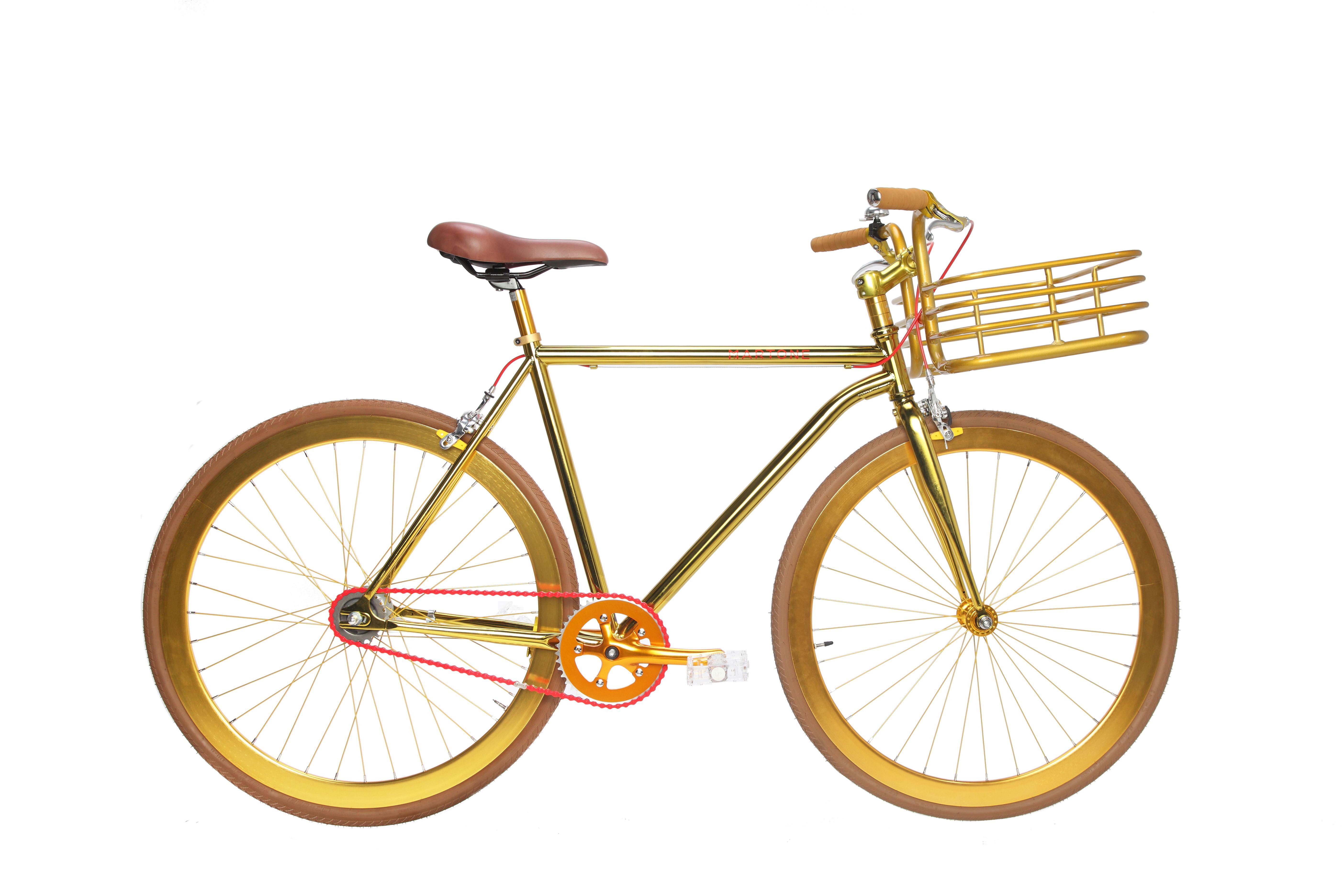 золотой велосипед фото закладывать