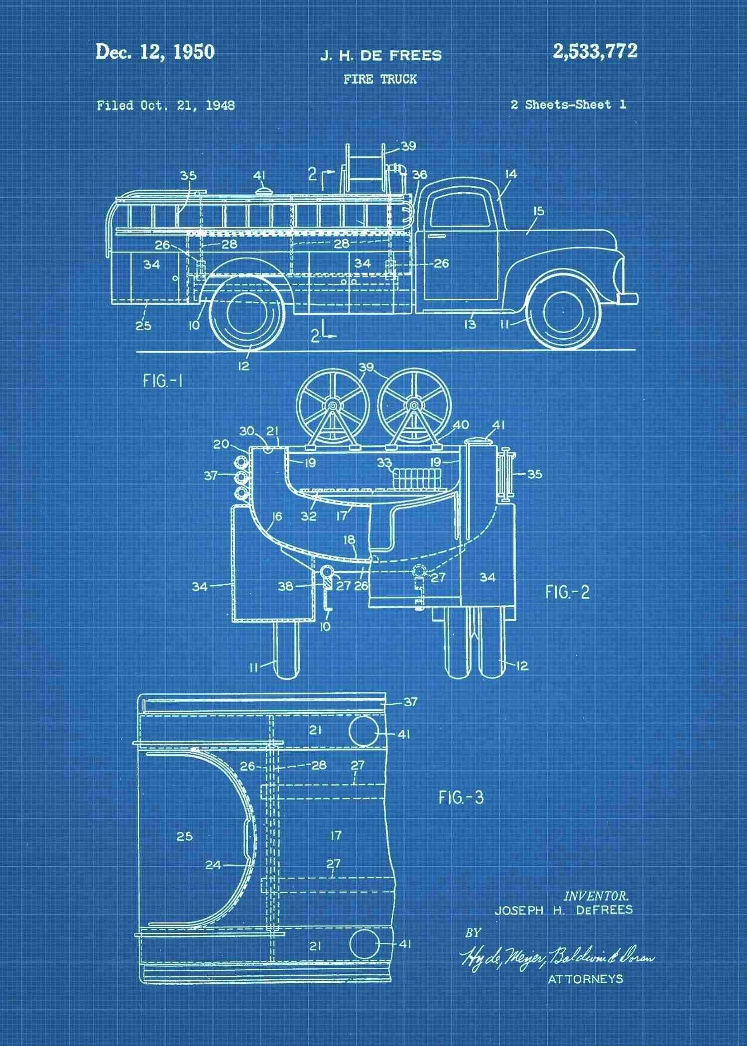 Fire Engine Patent Prints Pinterest Firefighter Printing And Truck Schematic Print Patentprints
