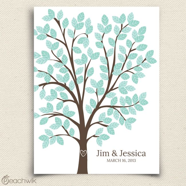 Dreamwik Wedding Tree Guestbook Alternative By Peachwik