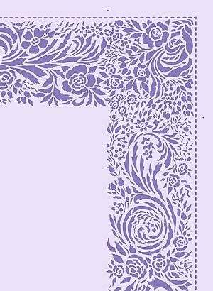 Delicate Lace Style Deep Damask Edging Stencil 2 Sheet