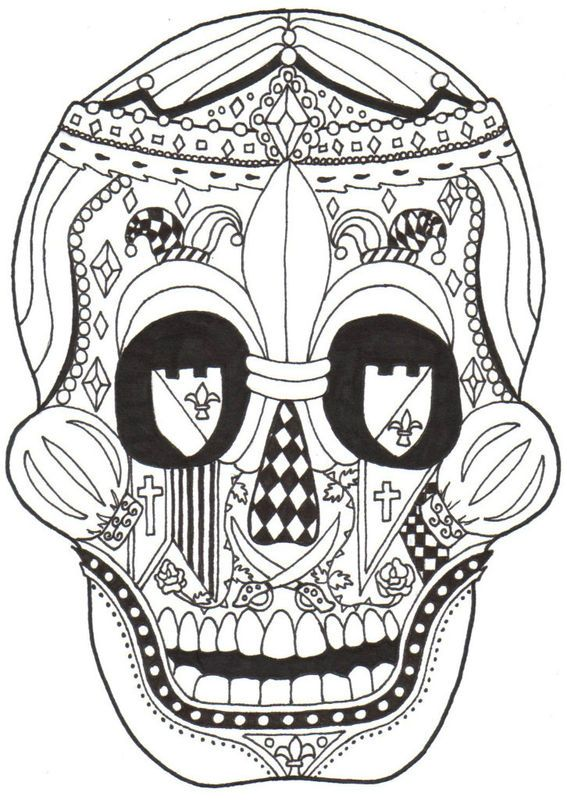 Dia De Los Muertos Coloring Pages Posted by Kay Larch at 1142 PM