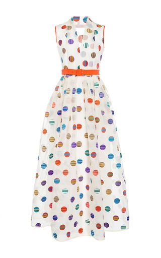 Rendered in silk, this **Dice Kayek Pink Label** dress features a whimsical…