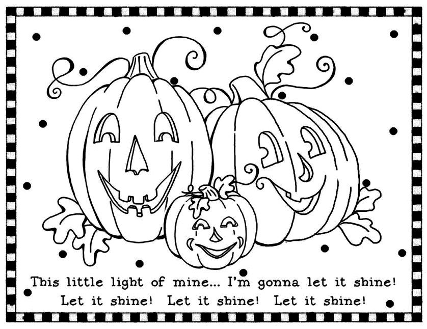 christian halloween coloring pictures - Christian Halloween Coloring Pages