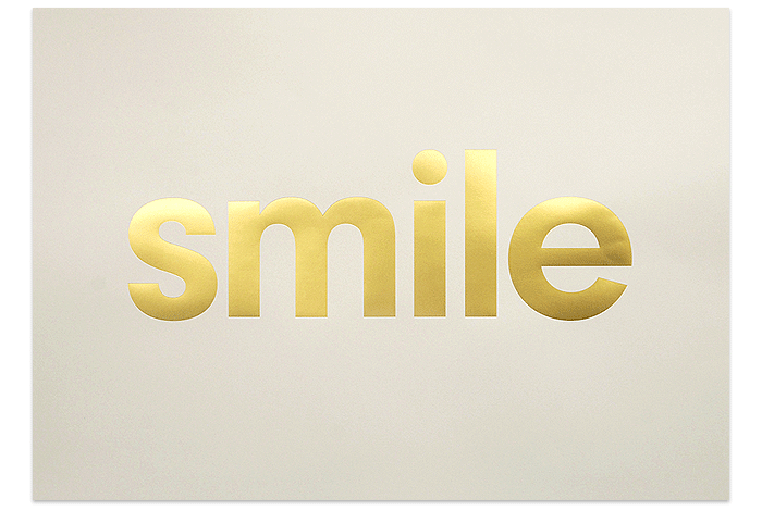 Smile - Gold | The Lepolas | Artists | Keep Calm Gallery