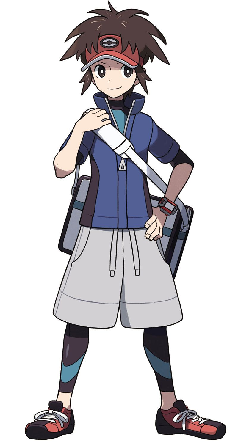 Anime Characters As Pokemon : Male trainer pok�mon black and white character design