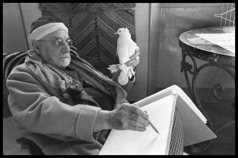 French painter Henri Matisse at his home, villa Le Reve. © Henri Cartier-Bresson/Magnum Photos