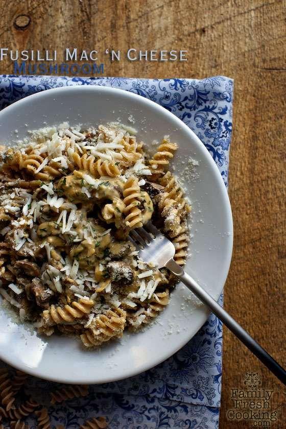 Fusilli Mushroom Mac 'n Cheese - MarlaMeridith.com
