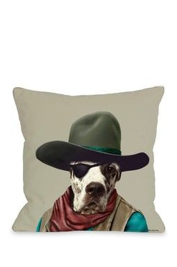 Cowboy Decorative Pillow Pets Rock Stylish Dogs Dog Cat