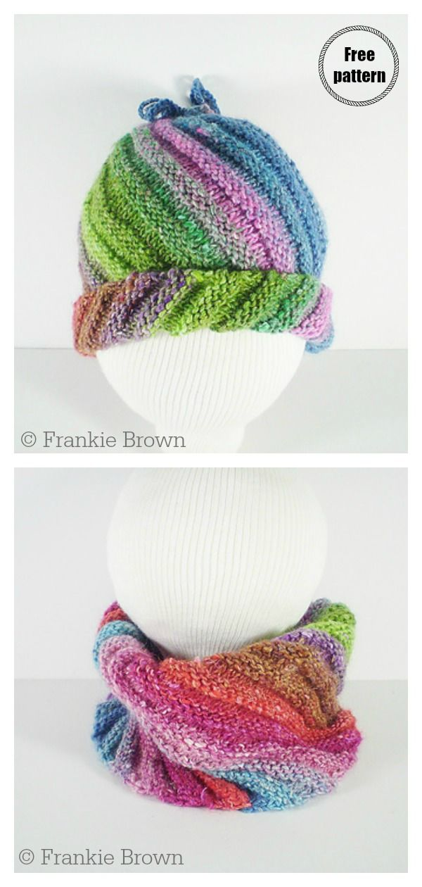 Flat Knit Swirl Hat Free Knitting Pattern | Knitting ...